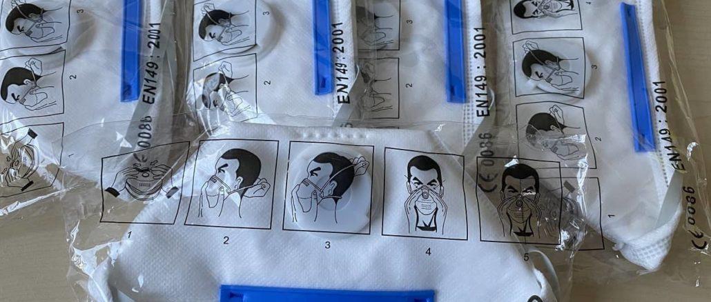 FFP 2 Masken gegen das Coronavirus